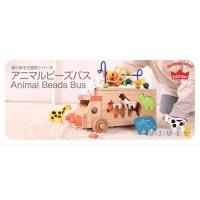 木製知育玩具動物巴士 3歳~