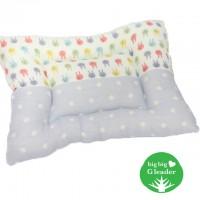 日本製 BigBig G Leader woofa BB/兒童枕頭 (粉藍色波點)