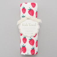 日本製 比一般10cm長的毛巾:草苺