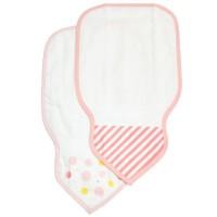 日本製 粉紅色條子水點圖案吸汗巾 2 枚組