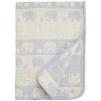 五重紗布 大象被仔 藍 50cm×60cm [日本製]
