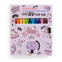 SAKURA HELLO KITTY彩色硬筆12顔色