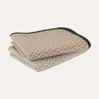 日本製OVLOV wool混6重紗布被 (M SIZE:約100cm×140cm) herringbone