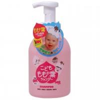 日本製 小朋友用桃葉全身泡肥皂500mL