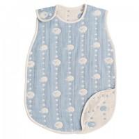 代購商品:Hoppetta 六重紗布防踢睡袍 sleeper (藍色羊 S size)