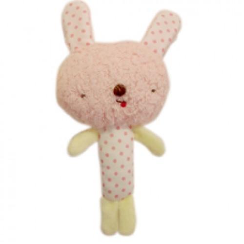 Anano Cafe rabbit Baby 搖搖鈴 粉紅色 [日本製]