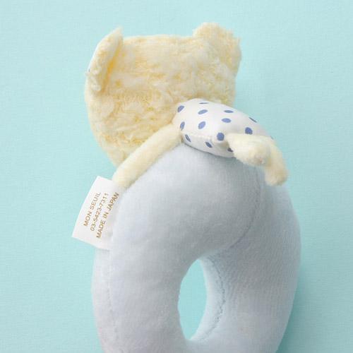 Anano Cafe Bear Baby手環搖鈴 藍色 [日本製]