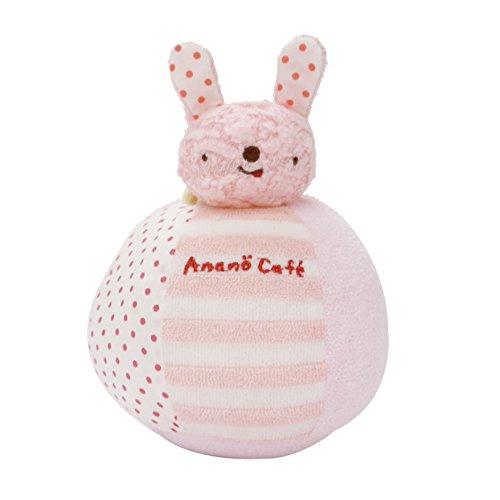 Anano Cafe 兔兔不倒翁球 粉紅色 [日本製]