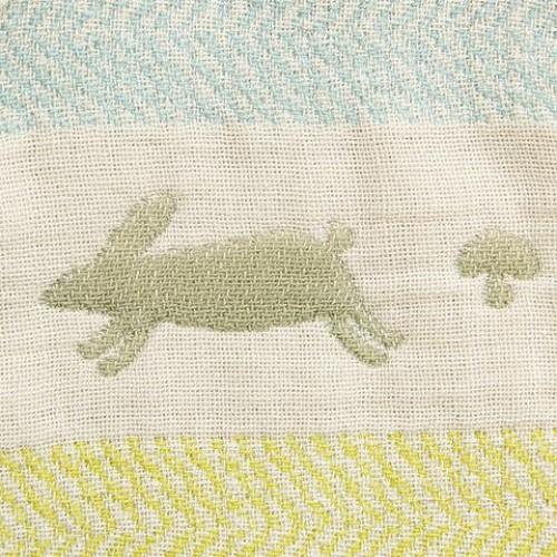 代購商品:Hoppetta 六重紗布防踢睡袍 sleeper (彩色兔仔 S size)