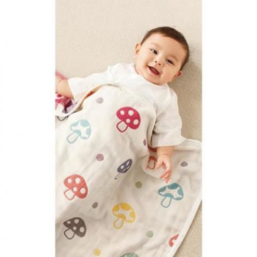 代購商品:Hoppetta 6重紗布被仔 蘑菇 90cm-110cm 日本制