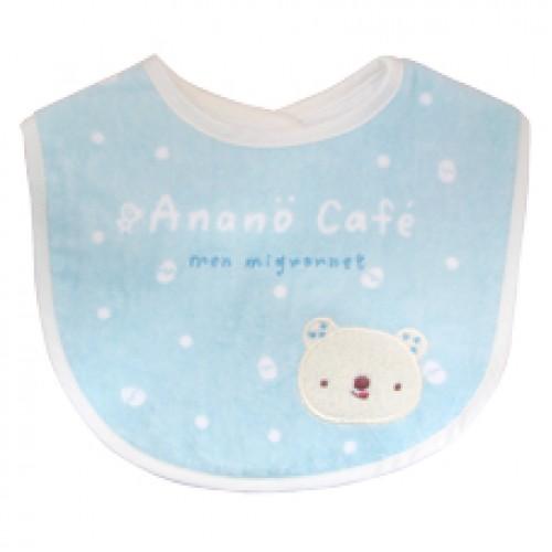 Anano Cafe 貼花風格Bear 口水肩  藍色