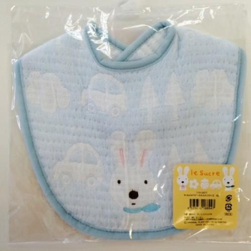 日本制 Le Sucre 藍色兔子口水肩